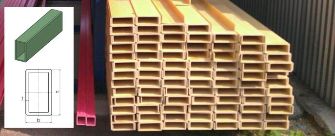 Прямоугольные стеклопластиковые трубы используются при возведении мостов, ограждений, лестниц, а так же обслуживающих платформ и площадок.
