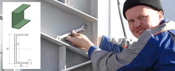 Стеклопластиковый швеллер подходит для создания каркасов мостов, зданий, сооружений, машин, механизмов и иных объектов.